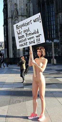 wir sind kein freiwild auch wenn wir nackt sind